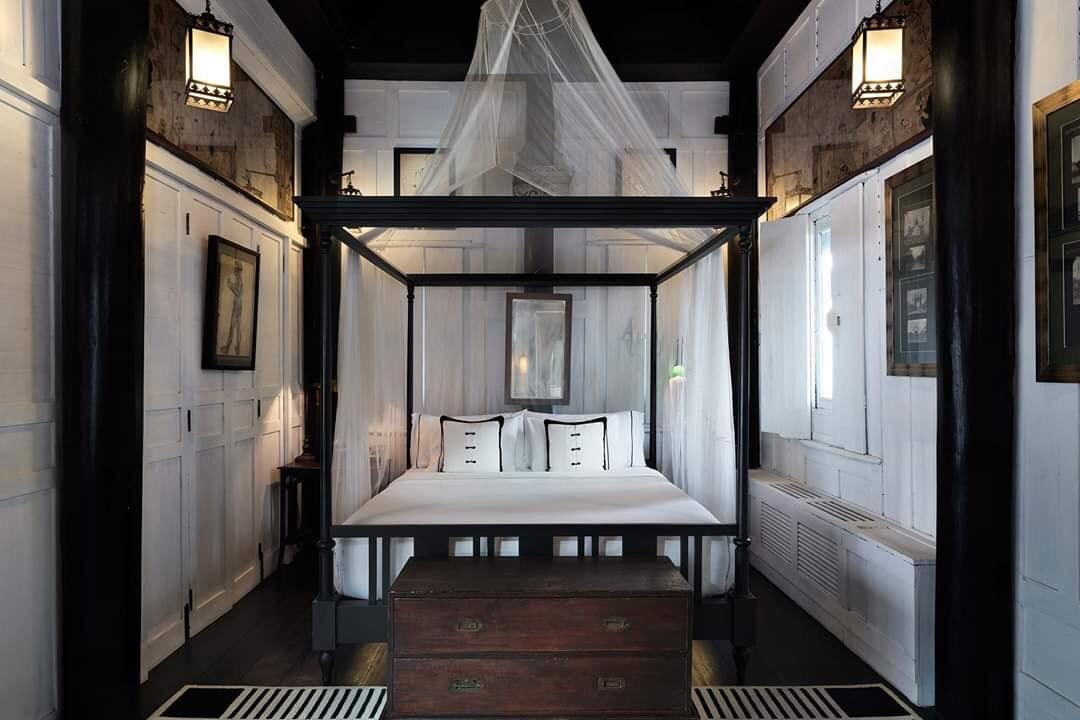 Phong cách Đông Dương bên trong phòng ngủ