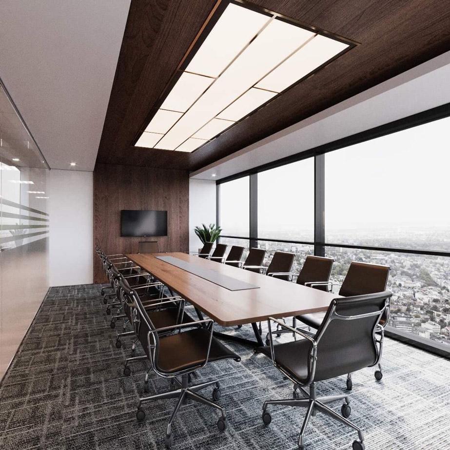 Thiết kế phòng họp cho văn phòng làm việc tại Lotte Liễu Giai - Hà Nội