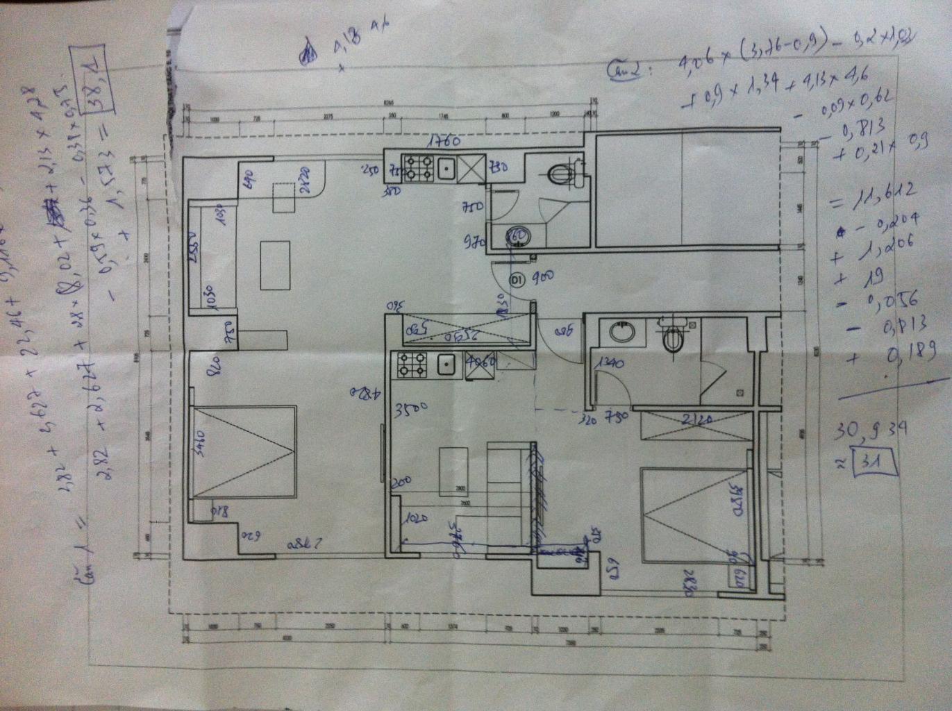 Thiết kế sơ bộ bản vẽ mặt bằng