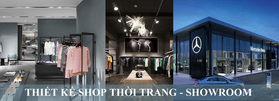 Thiết kế shop thời trang, showroom