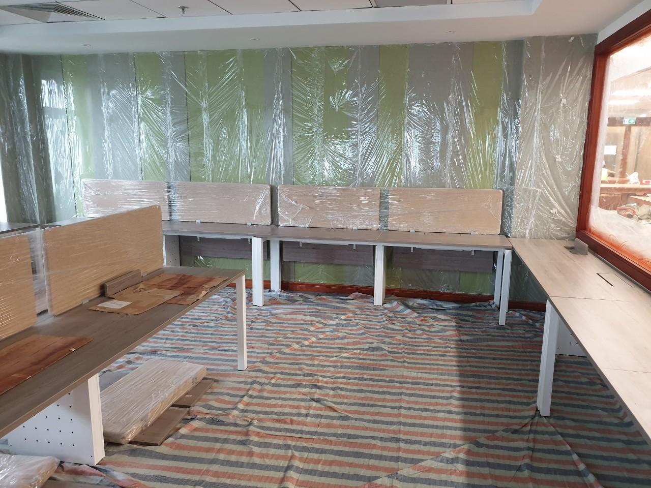 Mặt bằng thi công lắp đặt nội thất văn phòng giai đoạn hoàn thiện