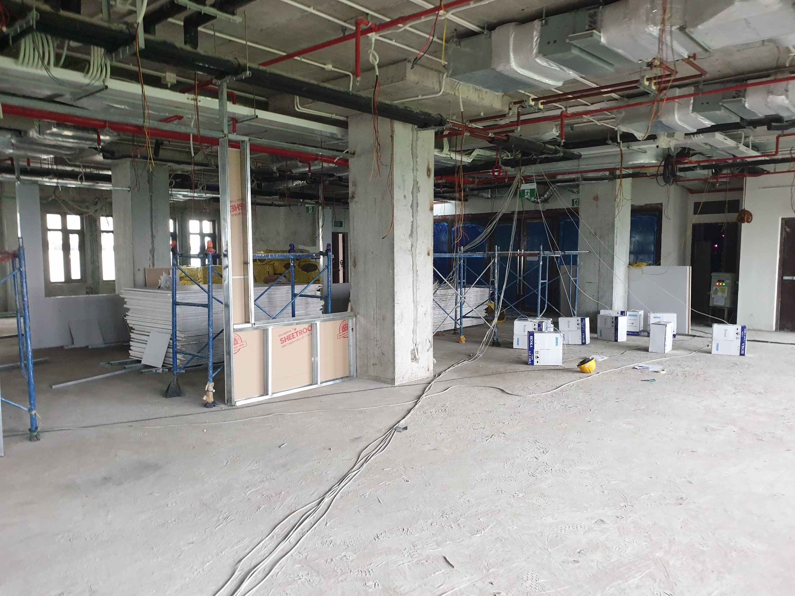 Mặt bằng trước khi nhận sửa chữa cải tạo văn phòng làm việc tại Hà Nội