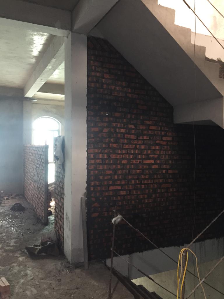 Xây tường ngăn phòng theo thiết kế