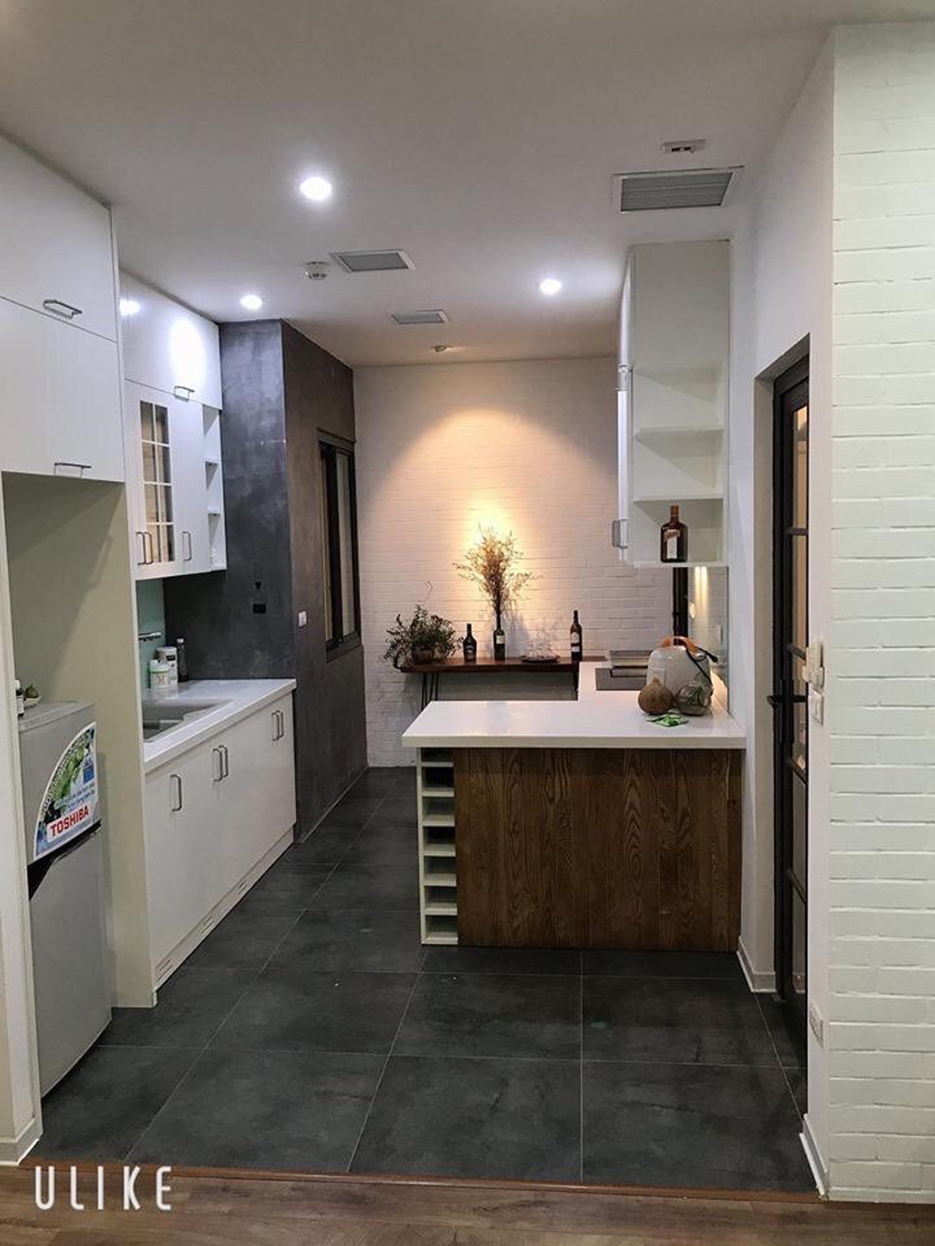 Khu bếp được mở rộng